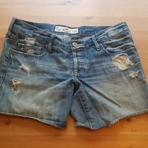Hollister Distressed Jean Shorts